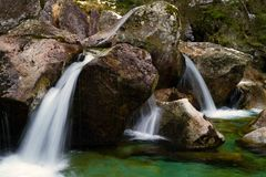 Mountain little river Royalty Free Stock Image