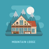 Mountain Lodge House Landscape. Stock Photography
