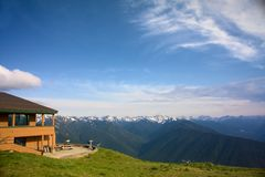 Mountain Lodge at Hurricane Ridge Stock Photo