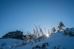 Mountain lodge in Karkonosze Stock Image