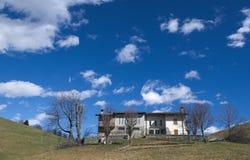 Mountain lodges Stock Photo