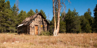 Mountain Log Cabin Stock Image
