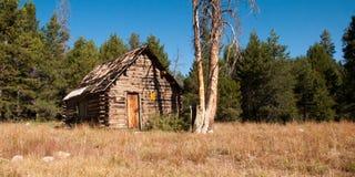Mountain Log Cabin Stock Image