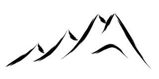 Mountain logo Royalty Free Stock Images