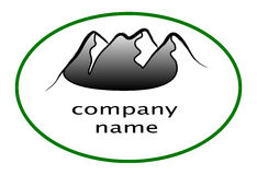 Mountain logo Royalty Free Stock Images
