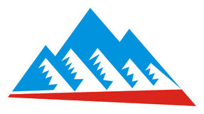 Mountain logo. On a white background Royalty Free Stock Photography