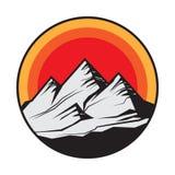 Mountain logo, icon or symbol royalty free illustration