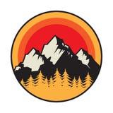 Mountain logo, icon or symbol stock illustration
