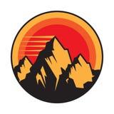 Mountain logo, icon or symbol vector illustration