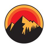 Mountain logo, icon or symbol royalty free stock images
