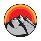Mountain logo, icon or symbol stock photos