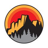 Mountain logo, icon or symbol royalty free stock photography