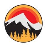 Mountain logo, icon or symbol royalty free stock photos
