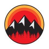 Mountain logo, icon or symbol stock photo