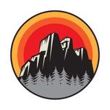 Mountain logo, icon or symbol stock images