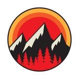 Mountain logo, icon or symbol stock image