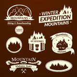 Mountain logo and label set Stock Image