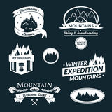 Mountain logo and label set Stock Image