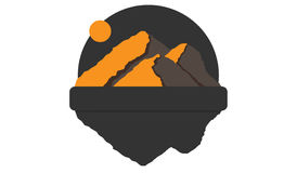 Mountain logo. With a place for text royalty free stock image