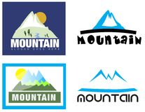 Mountain logo set Stock Photo