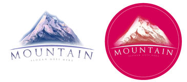 Mountain logo Royalty Free Stock Image