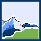 Mountain logo Royalty Free Stock Photo