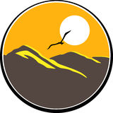 Mountain logo. Vector illustration of mountain logo royalty free illustration