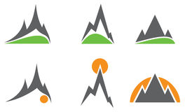 Mountain logos Stock Photography