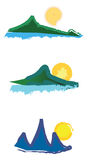 Mountain logos Stock Photo