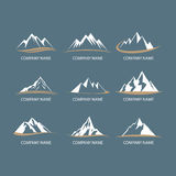Mountain logos Royalty Free Stock Photos
