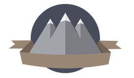 Mountain logotype. Logo with mountains, circle and a place for text Stock Photography