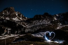 Mountain love Stock Photo