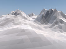 Mountain low poly background. 3D rendering. Mountain low poly vintage style background. 3D rendering stock illustration