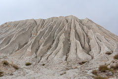 Mountain made from macadam and sand in open-pit mining. For rock Royalty Free Stock Photography