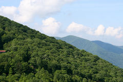 Mountain majesty. A landscape in Smoky mountain national park Royalty Free Stock Photography