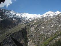 Mountain with white snow royalty free stock photos