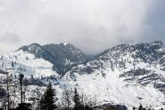 Mountain of Manali Himachal Pradesh Town in India. Manali is a high-altitude Himalayan resort town in India's northern Himachal Pradesh state. It has a Stock Photo