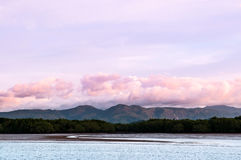 Mountain and mangrove forest scenery in Ranong, Thialand. Mountain and mangrove forest in Ranong, Thialand Stock Image