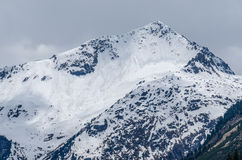 Mountain and many avalanches Royalty Free Stock Photography