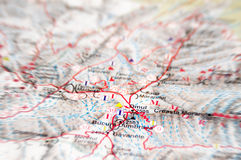 Mountain map Royalty Free Stock Images