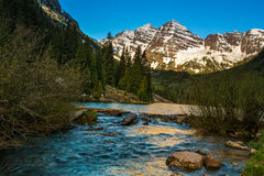 Mountain Maroon Bells Royalty Free Stock Photography