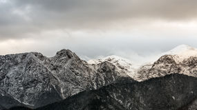Mountain massif Giewont in the Western Tatra Mountains Stock Image