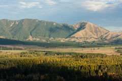 Mountain massif near Hanmer Springs Royalty Free Stock Photo