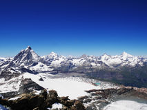 Mountain. The matterhorn in the bright blue sky Royalty Free Stock Images