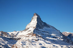 Mountain Matterhorn in Switzerland Stock Images