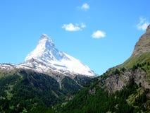 Mountain Matterhorn. In Zermatt, Switzerland Stock Photos