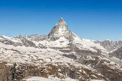 Mountain Matterhorn, Zermatt, Switzerland Royalty Free Stock Images