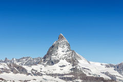 Mountain Matterhorn, Zermatt, Switzerland Stock Image