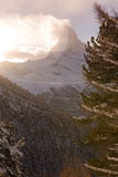 Mountain matterhorn zermatt switzerland Stock Image