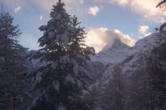 Mountain matterhorn zermatt switzerland Stock Photo